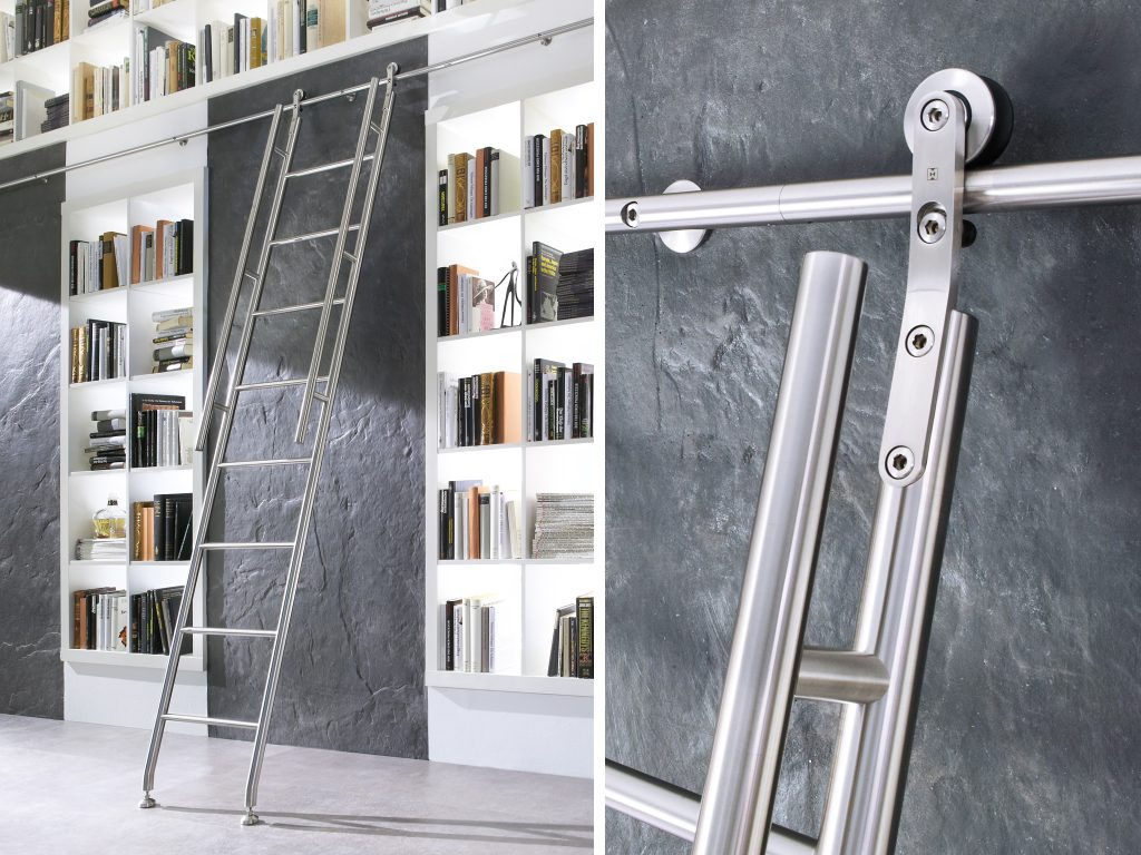Library Ladders Modern Stainless The Worlds Finest